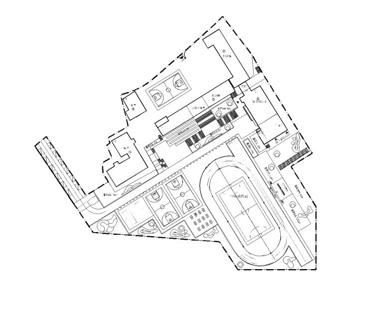 [贵州]小学扩建项目室外景观CAD施工图