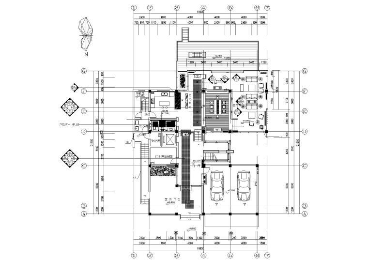 [北京]西山别墅装饰项目施工图+实景拍摄