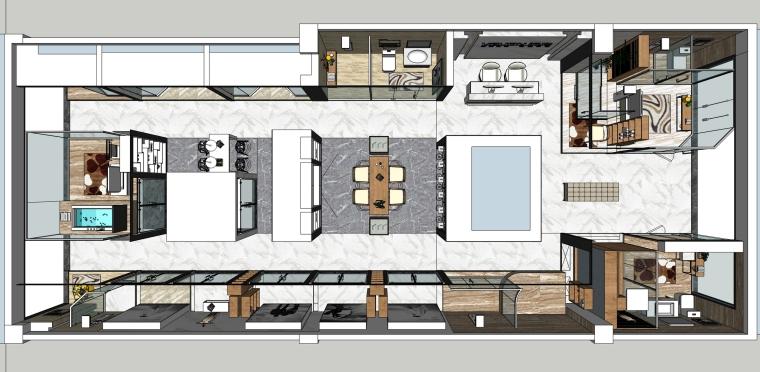 维立卫浴展厅装修设计SU模型