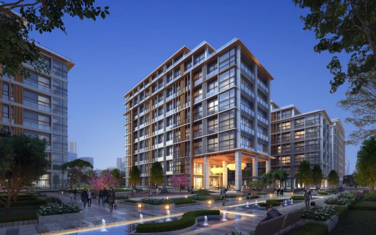 现代风格住宅+商业建筑模型设计