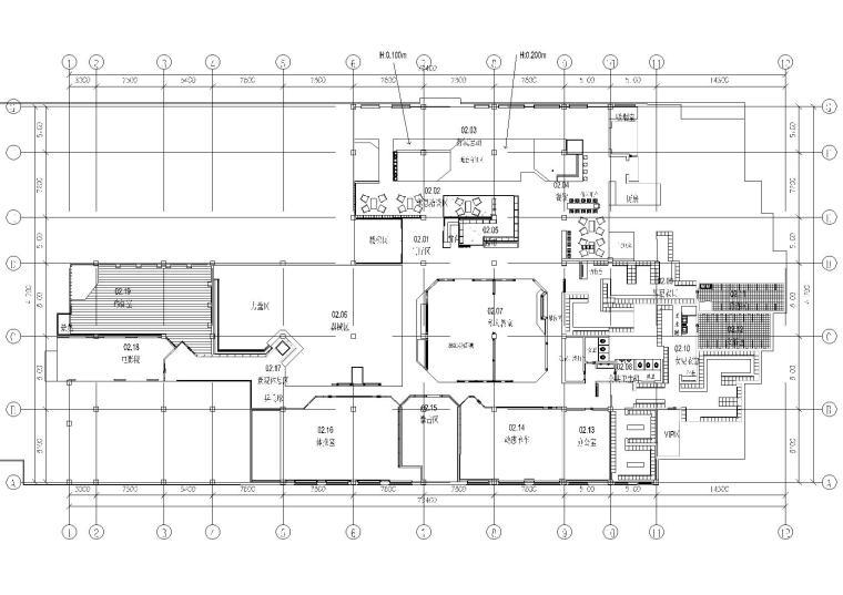 健身房 图纸深度:竣工图 设计风格:现代风格 图纸格式:cad2000 设计图片