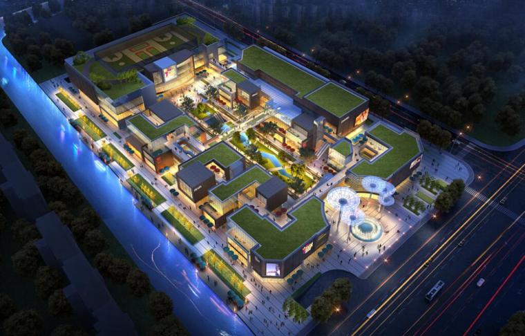 香溪花园商业综合体建筑模型设计
