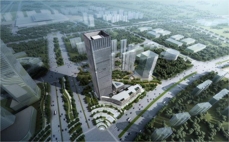 [江苏]绿地南京南部新城商业建筑模型