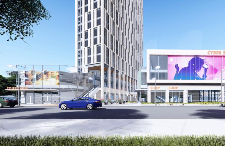 现代风格商业综合体概念建筑模型设计