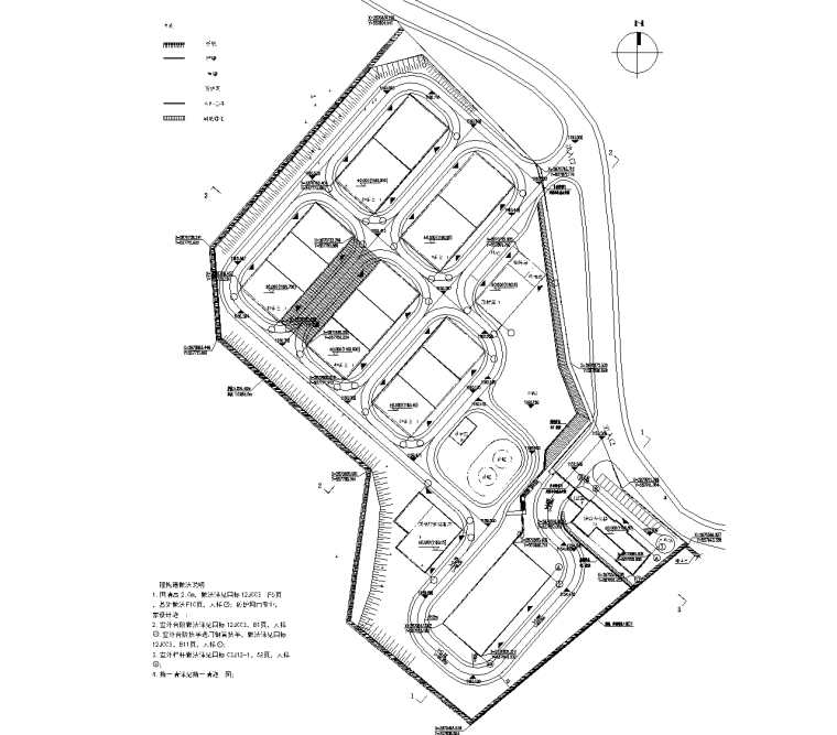 [贵州]粮食储备仓库及物流施工图&招标文件