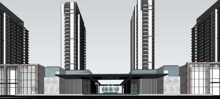 [山东]现代风格高层+商业+示范区建筑模型