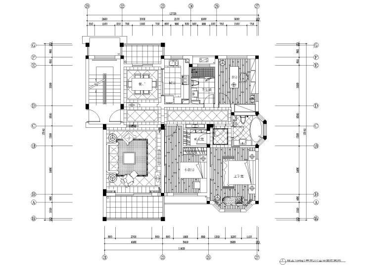 [浙江]当代华府悦庭10#楼1单元样板间施工图