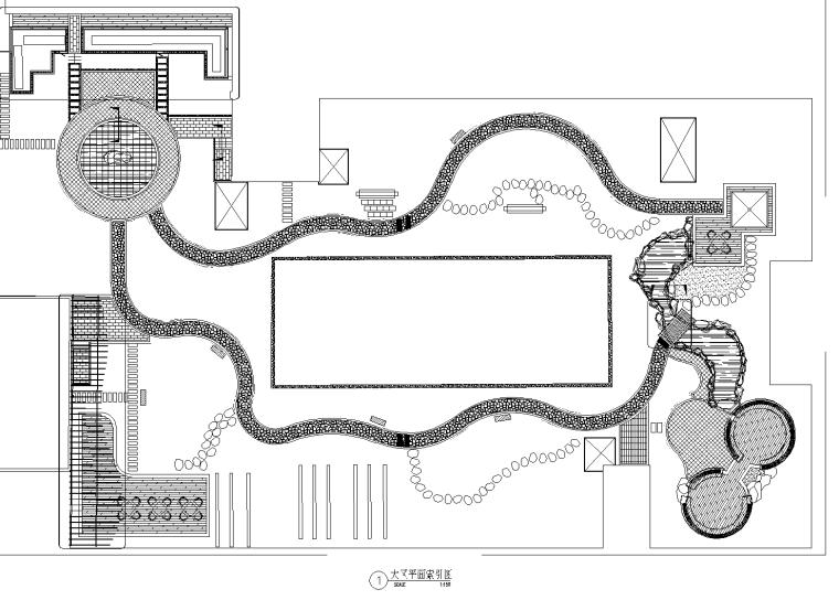 [重庆]财富中心裙楼屋顶花园景观CAD施工图