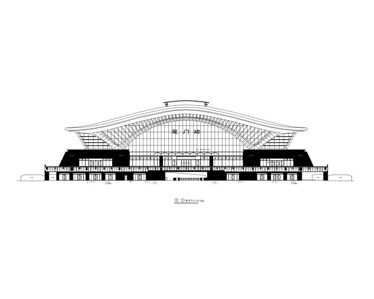 [厦门]火车站站房全套建筑施工图