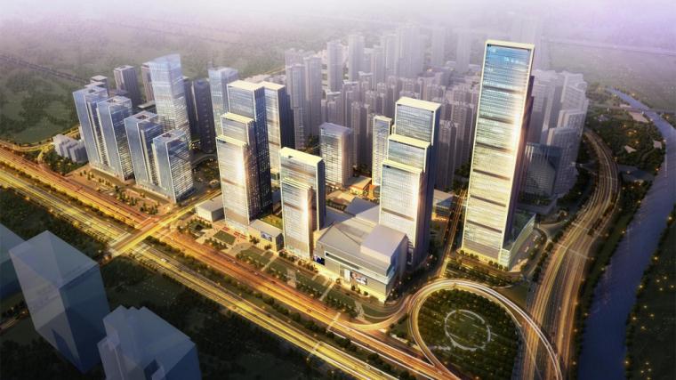 深圳华润万象天地商业综合体建筑模型设计