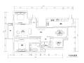 140平简欧风格平层公寓装修施工图+效果图