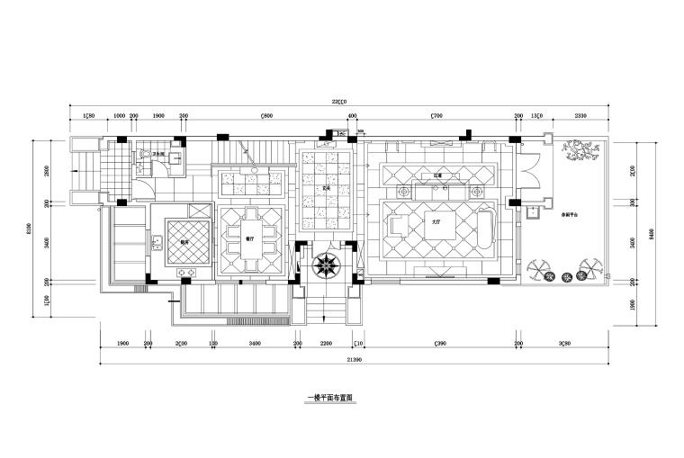 480平欧式风格联排别墅装修施工图+效果图