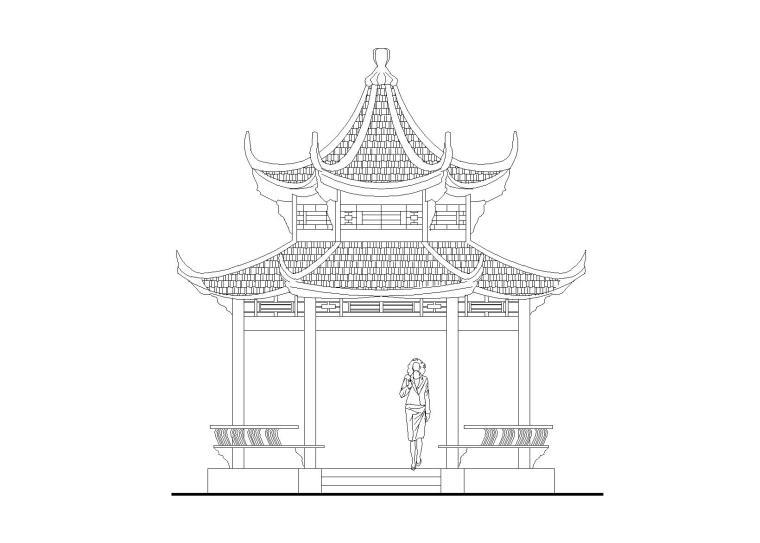 六角亭施工图设计_CAD