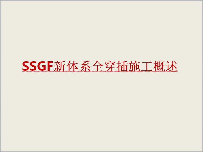 SSGF新体系全穿插施工概述(碧桂园)