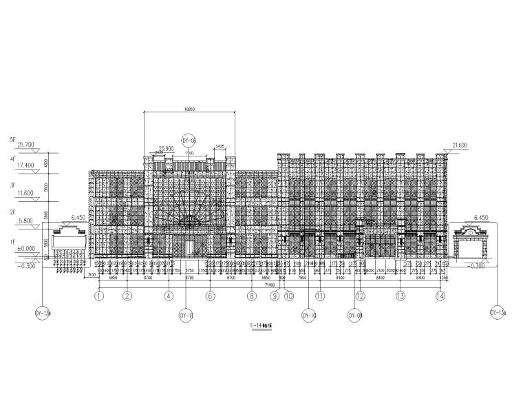 4层贸易大厦幕墙施工图_石材铝板幕墙2015