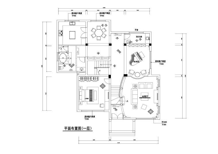 信步华庭臻园500平美式古典风格别墅施工图