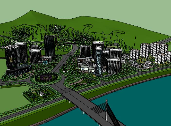 某大型现代高层住宅小区建筑模型设计
