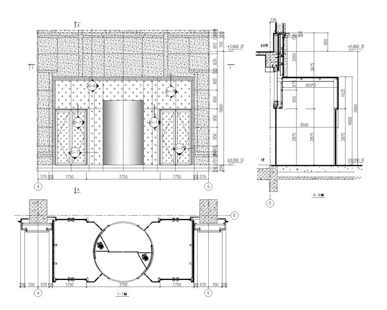 4层贸易大厦幕墙施工图_石材铝板幕墙2015-幕墙大样图2