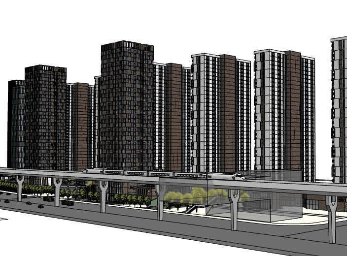 沿街高层住宅建筑模型设计