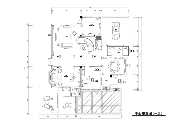 常熟泽景园450平独栋别墅装修施工图+效果图