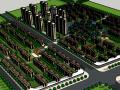 别墅多高层住宅混合小区建筑模型设计