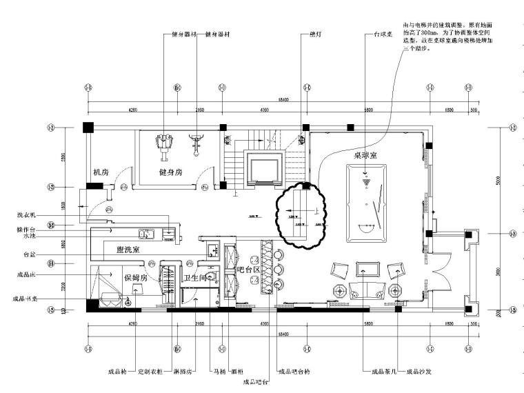 阳光怡庭四居室样板房装修施工图+效果图