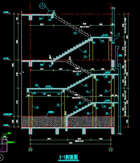 现浇混凝土楼梯设计与绘制图