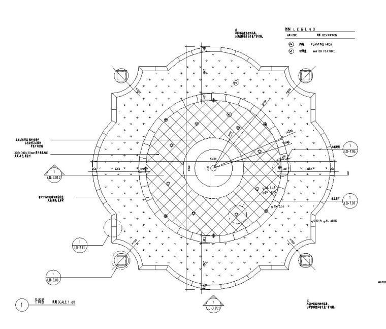 园林景观节点详图|水景施工图设计十七