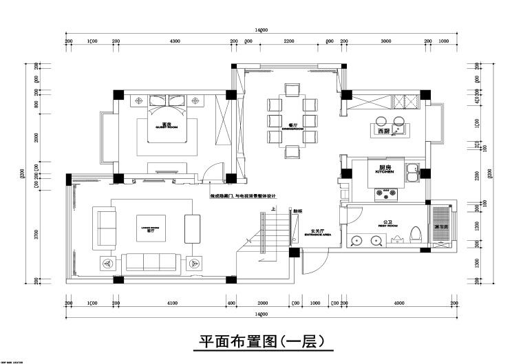 260平新古典风格联体别墅装修施工图+效果图