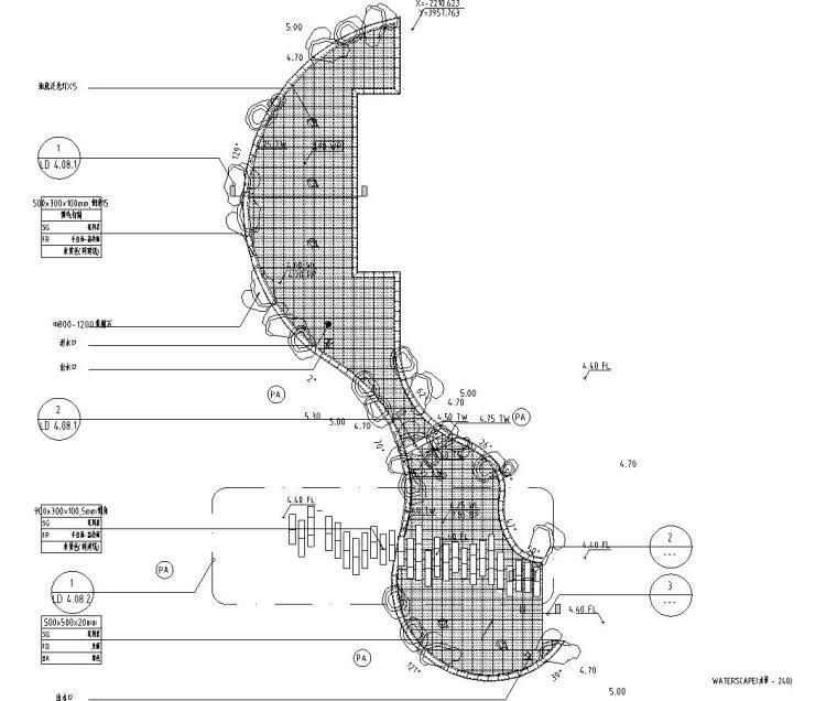 园林景观节点详图|水景施工图设计十二