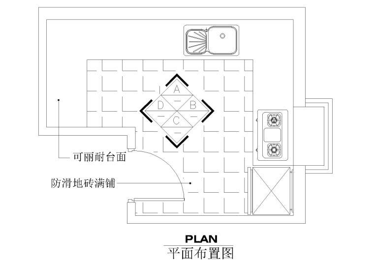 cad室内设计施工图常用图块之厨房图片