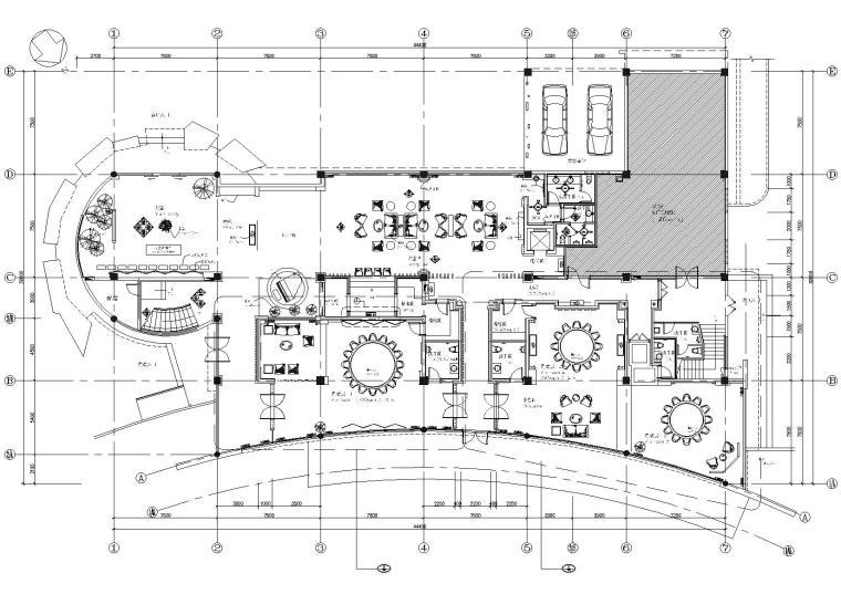 [成都]天蕴中心小会所室内装饰设计施工图