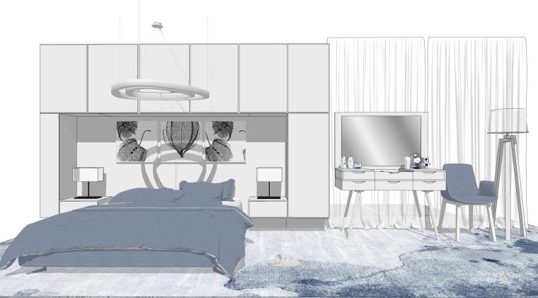 现代北欧风格软装组合SU模型