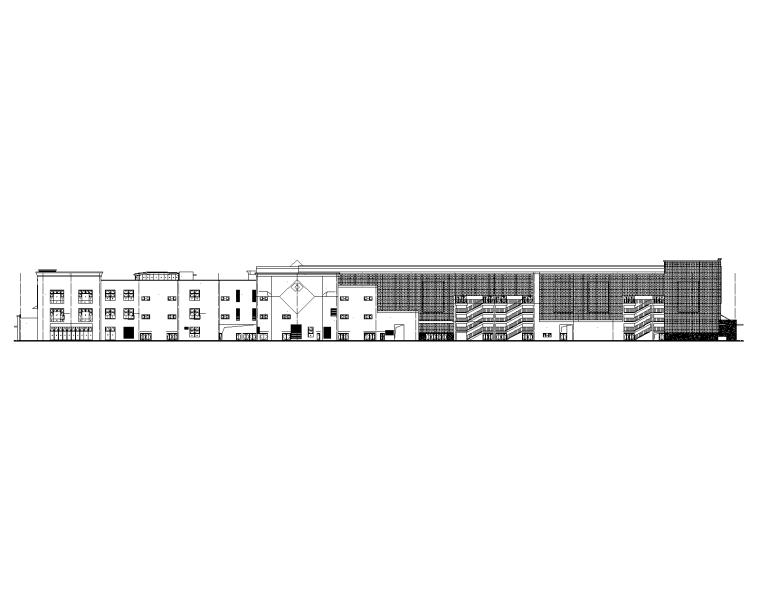 地下2层地上3层购物中心建筑施工图2016