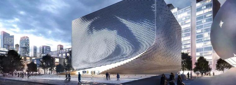 扭曲、动感的博物馆设计方案