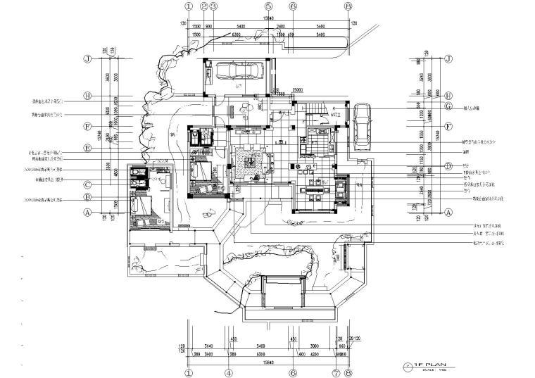 [苏州]天伦.随园A3型别墅样板房图纸+效果图