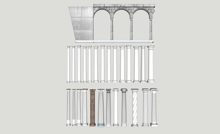 室内装修构件五金SU模型设计(3)