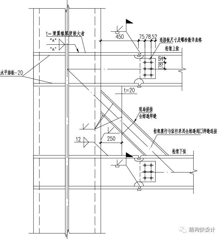 钢结构双向桁架的电算模拟_8
