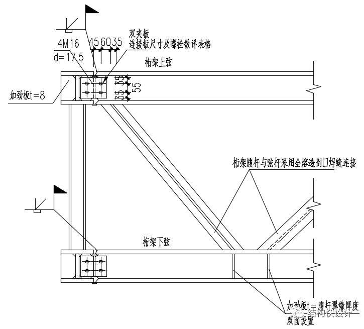 钢结构双向桁架的电算模拟_9