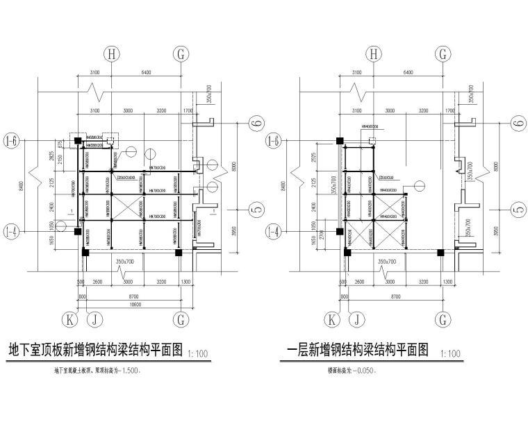 某大厦新增钢结构电梯结构施工图