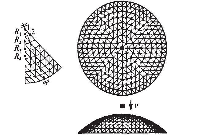 基于杆件破坏形式的冲击荷载下单层球面网壳