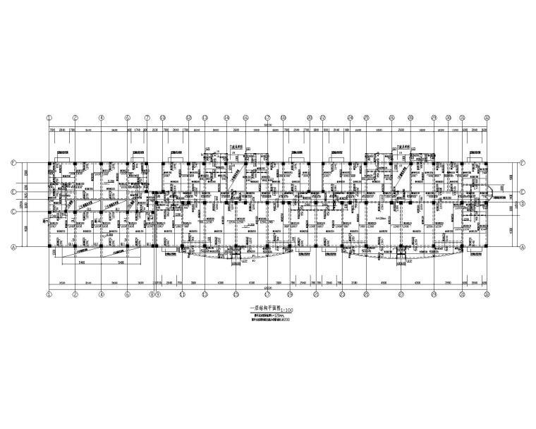 某四层带隔层框架住宅结构施工图(CAD)