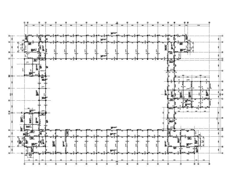 五层教学楼全套结构施工图(CAD)