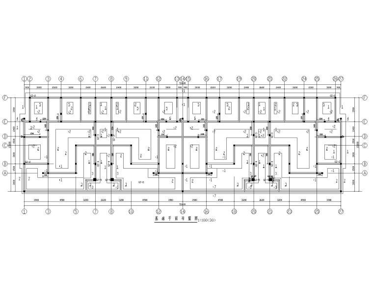 四层花园洋房混凝土框架结构施工图(CAD)