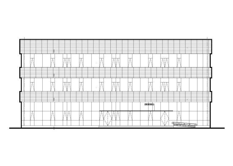 特大型企业医院辅助用房设计建筑施工图