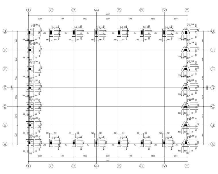 30米跨钢结构管桁架屋顶厂房施工图(CAD)