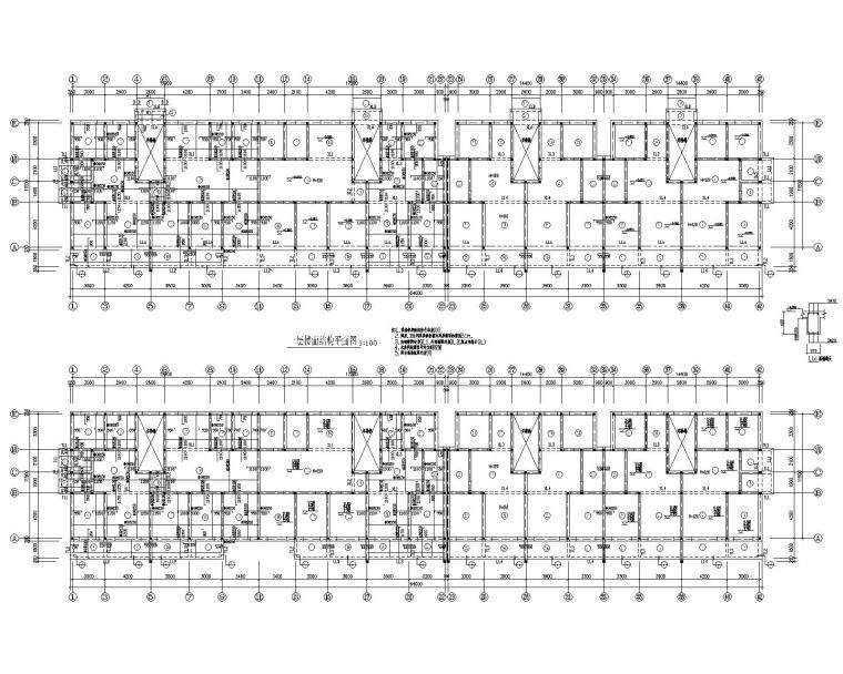 五层住宅混凝土结构施工图(CAD)