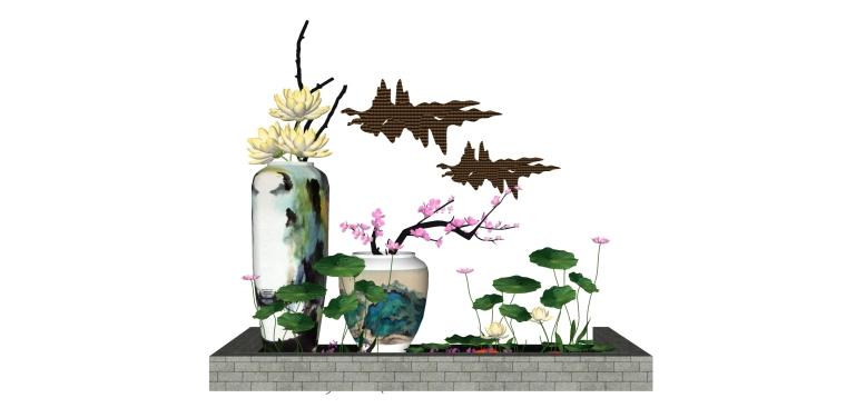 新中式禅意日式枯山水园艺小品庭院景观_4