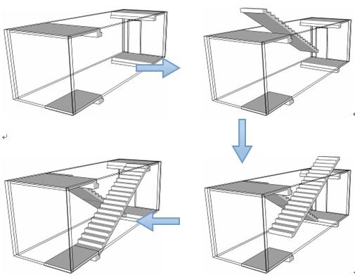 装配式房屋预制楼梯安装