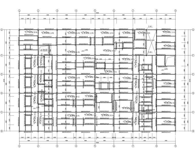 某十一层钢结构加工车间结构施工图(CAD)